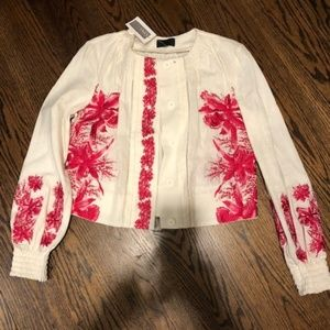 Intermix Ivory Embroidered Top